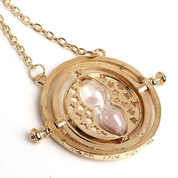 81e5b4ef0 Rotating Pink Sand Hourglass Pendant Necklace Gold Plated · 9.9 ...