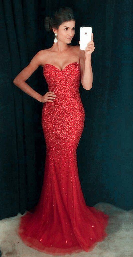 c0e4221d42680 Sexy Mermaid Beaded Prom Dress Evening Party Ball Gown Dresses for Prom