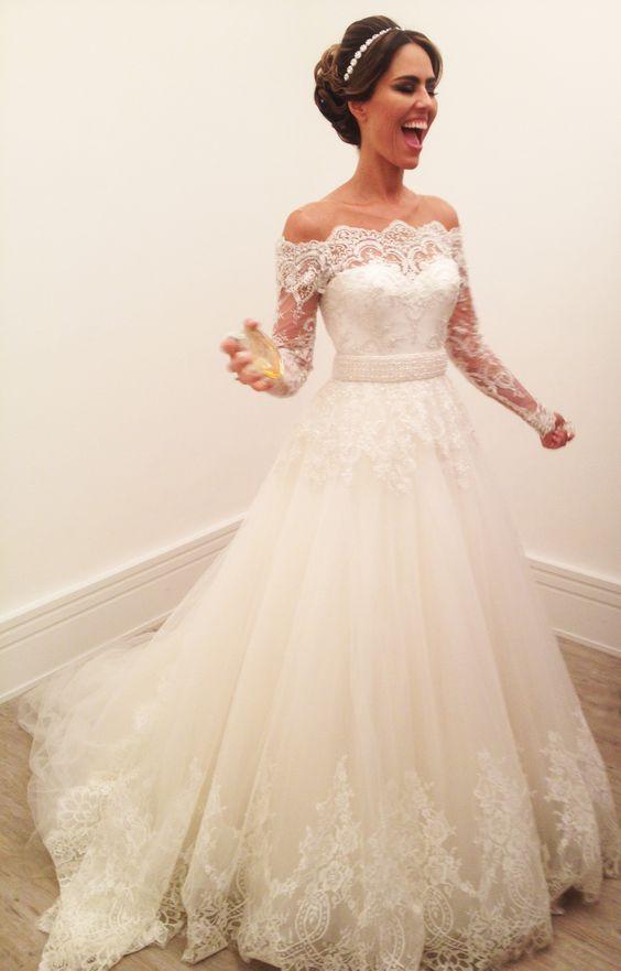 Long Sleeve Wedding Dress,Elegant Wedding Dresses,Bridal Dresses ...