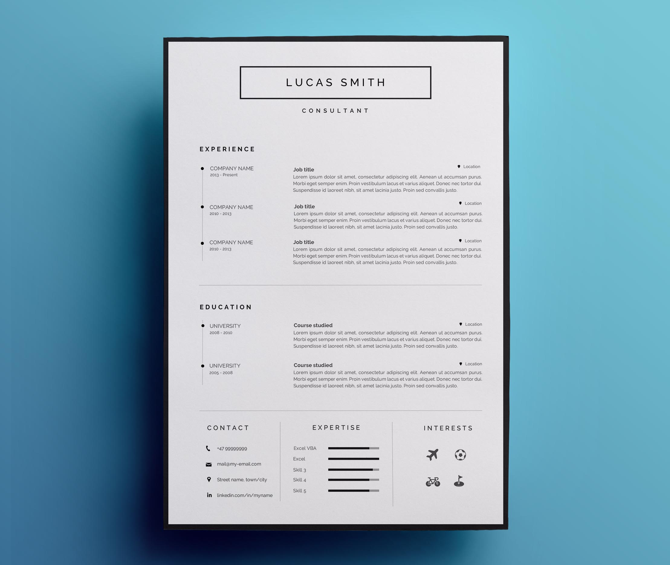 Resume Template For Word Cv Template Sold By Resumee