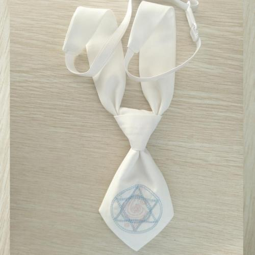 Jk Sailor Style Arrow Shaped Hexagram Embroidery Small Cute Tie For