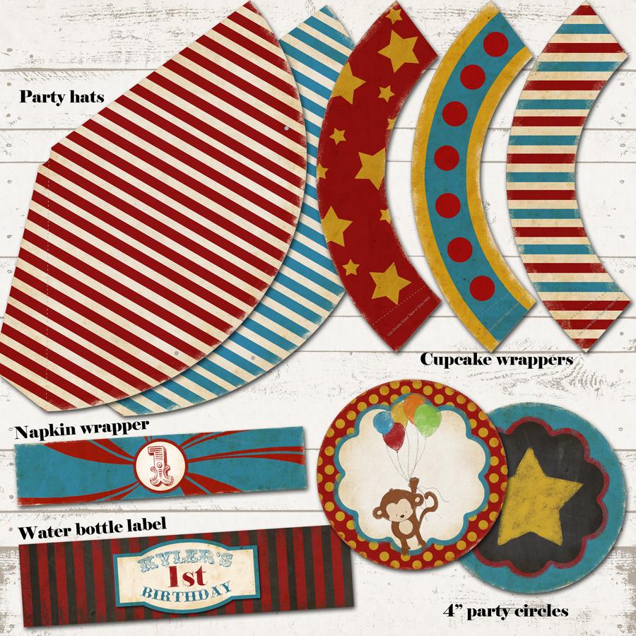 circus patterns printable - photo #19