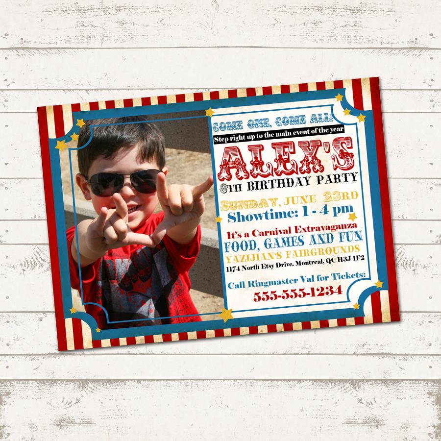 Etsy Circus Invitation02 Withphoto Original