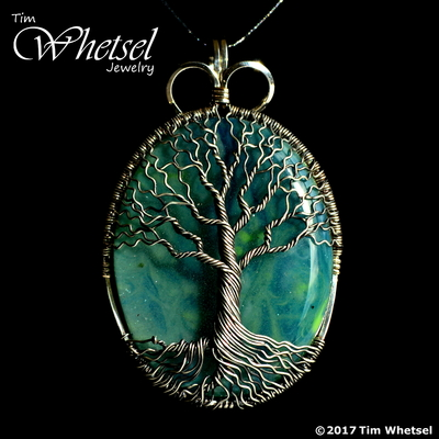 Orgonite Green Sterling Amp Fine Silver Wire Wrap Tree Of