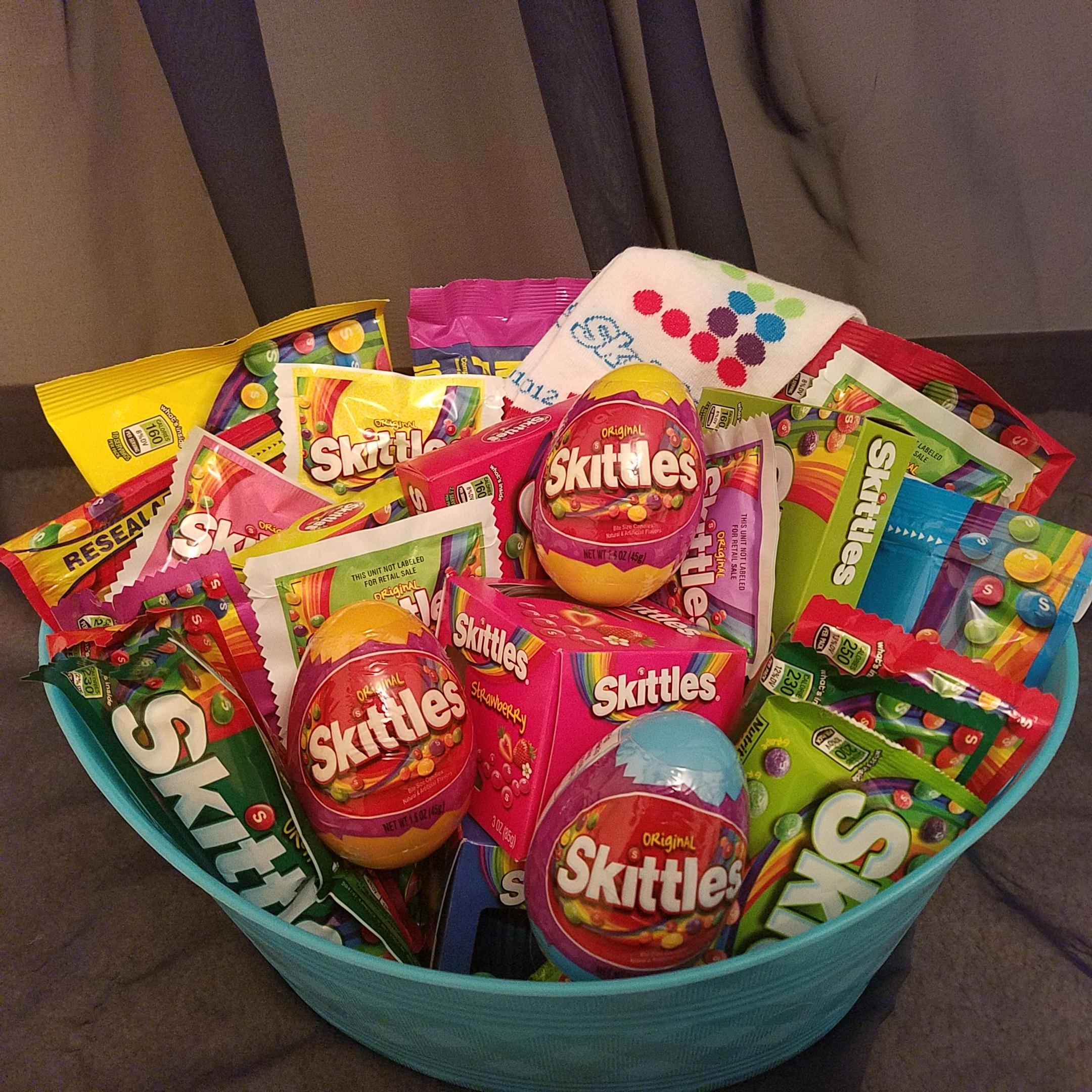 Skittles candy gift basket