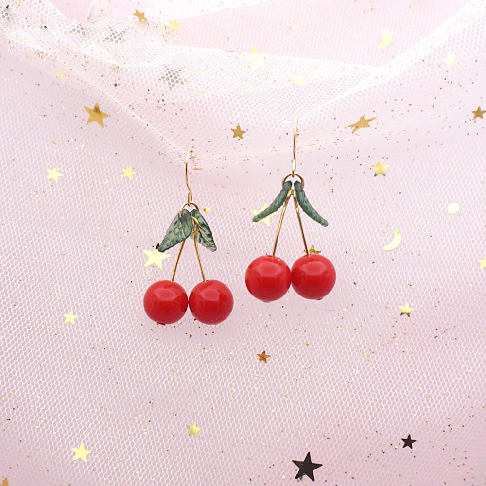 74b712b87397c4 ... Lolita Cute Cherry Earrings Necklace Sweet Beauty Jewelry DC198 -  Thumbnail 2 ...