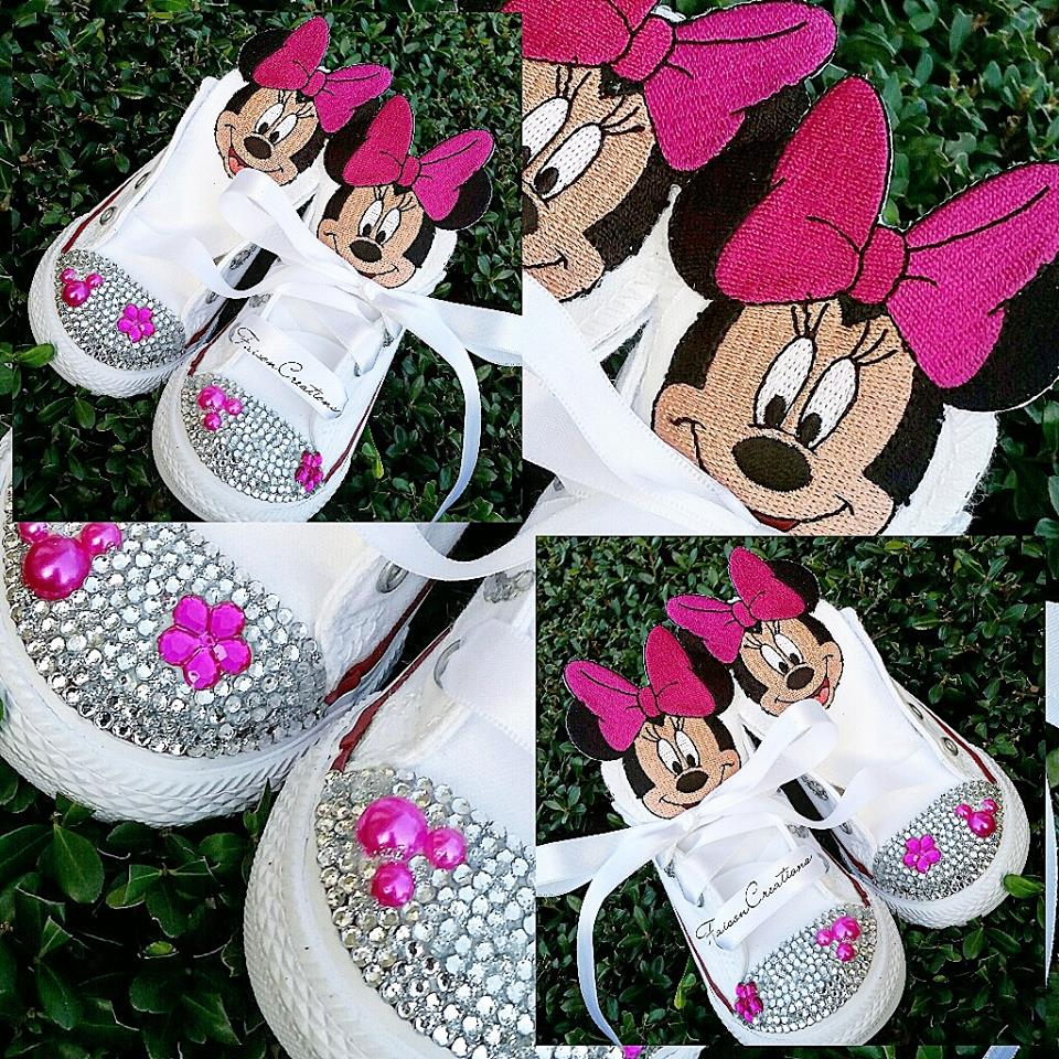 f6b34c7f0d6 Low Top Toddler Custom Minnie Mickey Mouse Converse Size 2 - 10 on Storenvy