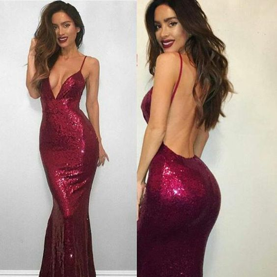 Fitted Evening Dresses with Straps