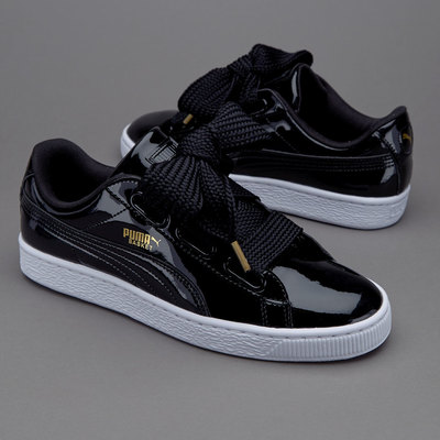new style e837f a9570 Fashion Suede Basket Heart Patent women's Skate shoes Casual sneaker black  from supplier
