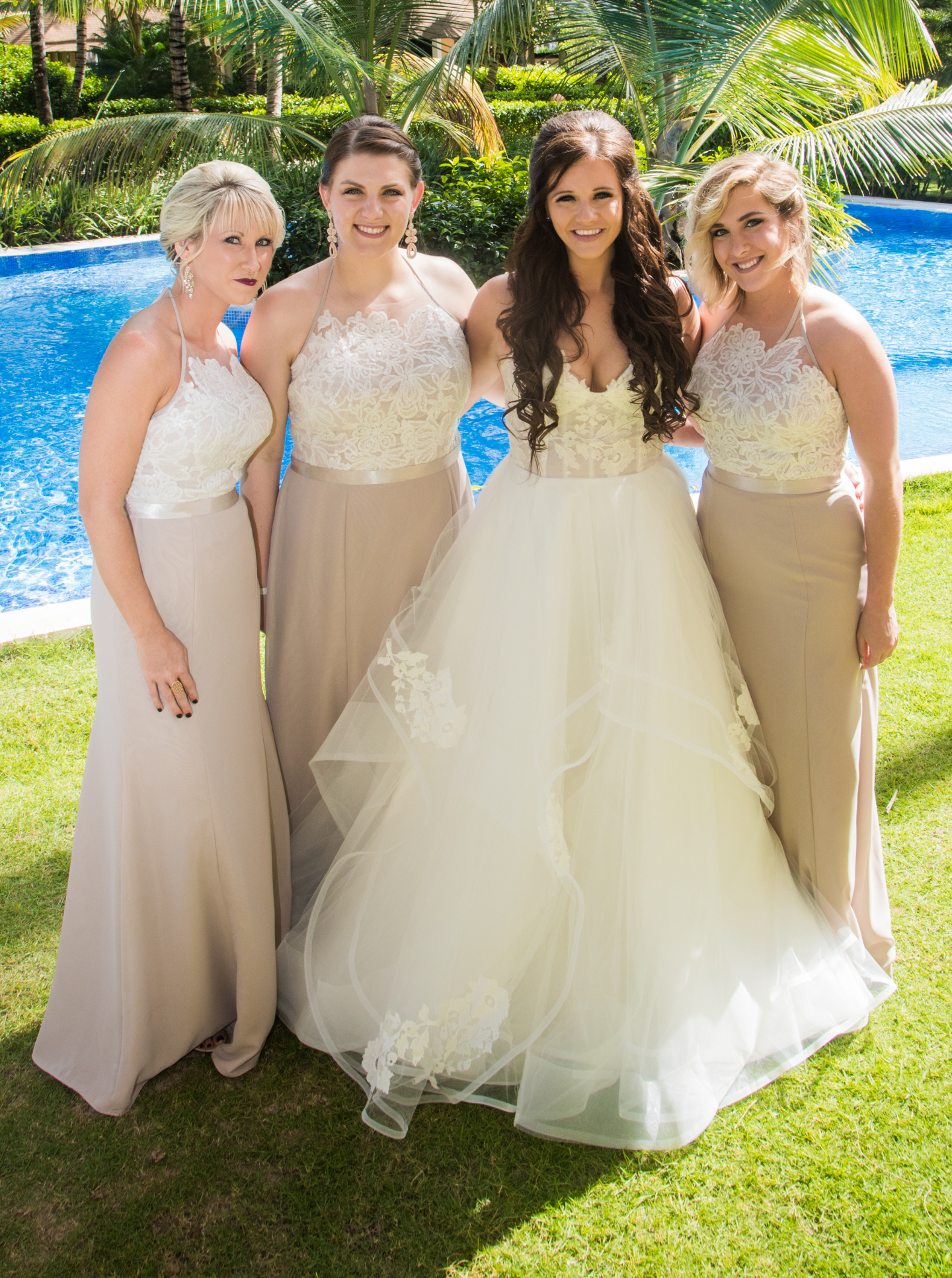 Ivory Lace Bodice Halter Bridesmaid Dresses Nude Long Bridesmaid Dresses Max Dresses For Bridesmaid Apd2467