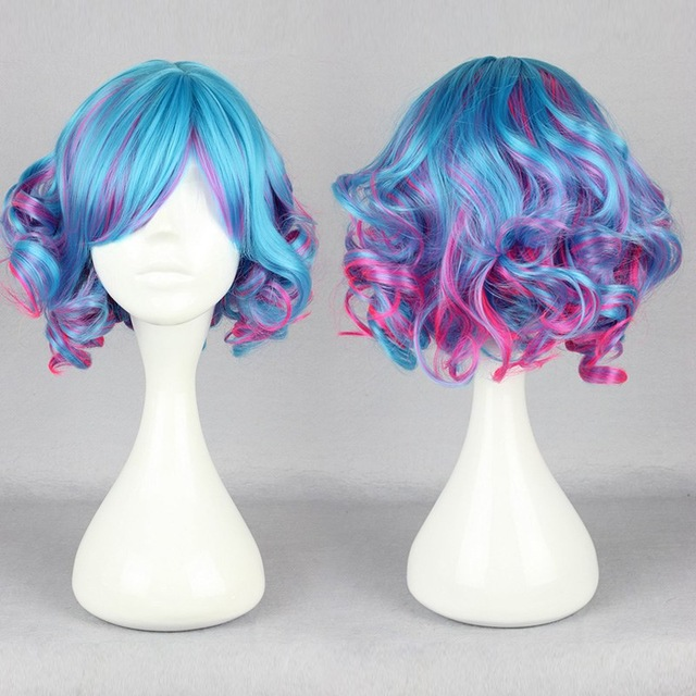 30cm Long Multi Color Beautiful Lolita Wig Anime Wig On Storenvy