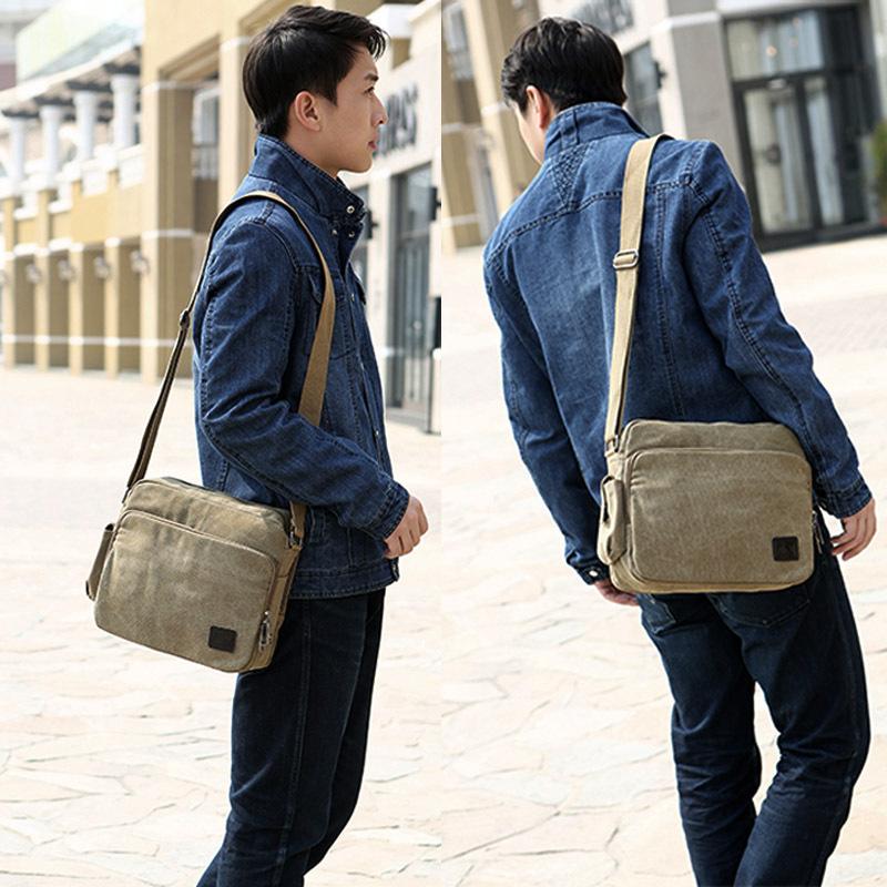 7760b71446 Hot high quality multifunction men canvas bag casual travel bolsa masculina  men s crossbody bag men
