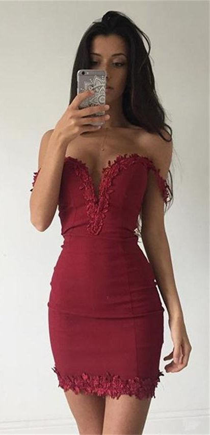 Burgundy Bodycon Homecoming Dresses Homecoming Dresses