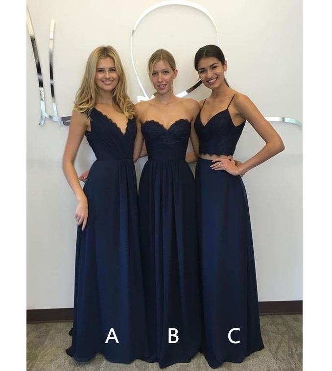 c9a2545838 Navy Blue Bridesmaid Dress