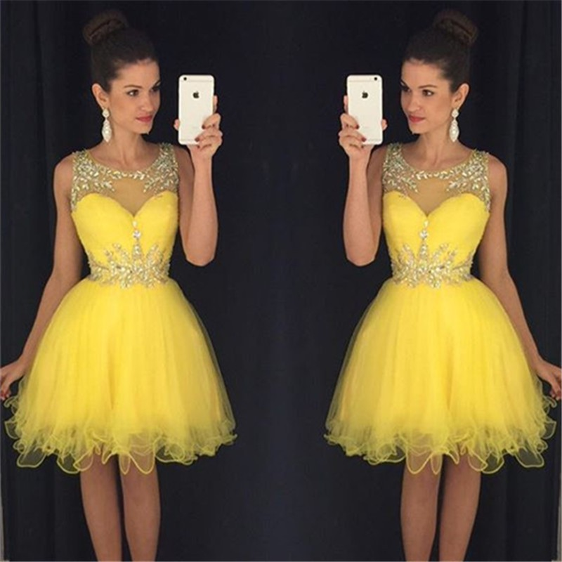901a624aed3 Yellow Homecoming Dress