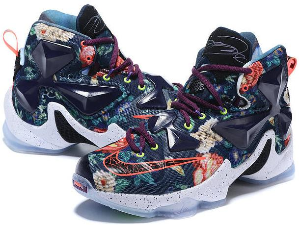 separation shoes b26cf a1364 Wholesale 2015 Nike Lebron 13 Floral Navy Marmoon on Storenvy