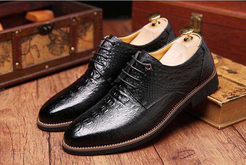 8d00767743f Mens dress shoes genuine leather black luxury wedding male shoes ...