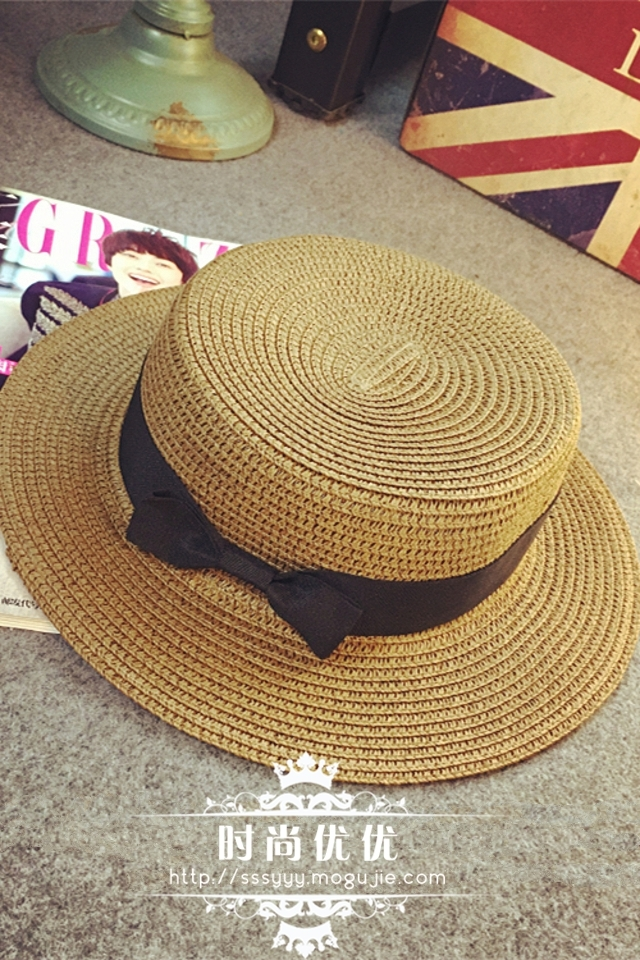 d903deaed Bow-tie beach straw hat