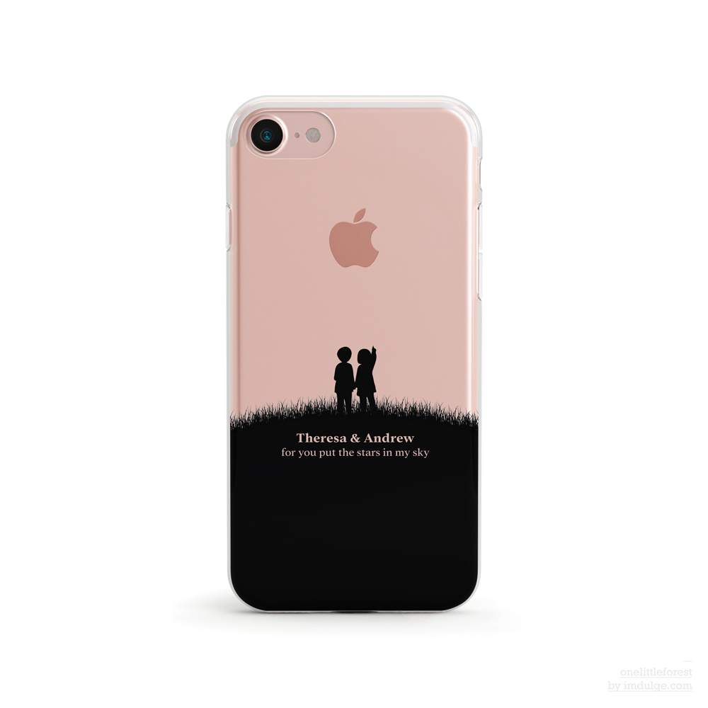 the best attitude 53b1e 1fcc8 Add your Name and Message, Hand in Hand, Clear Soft Case, iPhone 7, iPhone  7 plus, iPhone 6, iPhone SE from OneLittleForest
