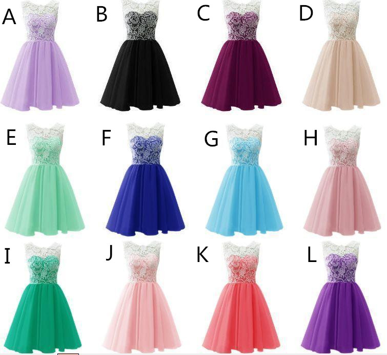 4529ebebfb3 ... Top Selling Cute Mint Handmade Lace Homecoming Dresses For Teens -  Thumbnail 4