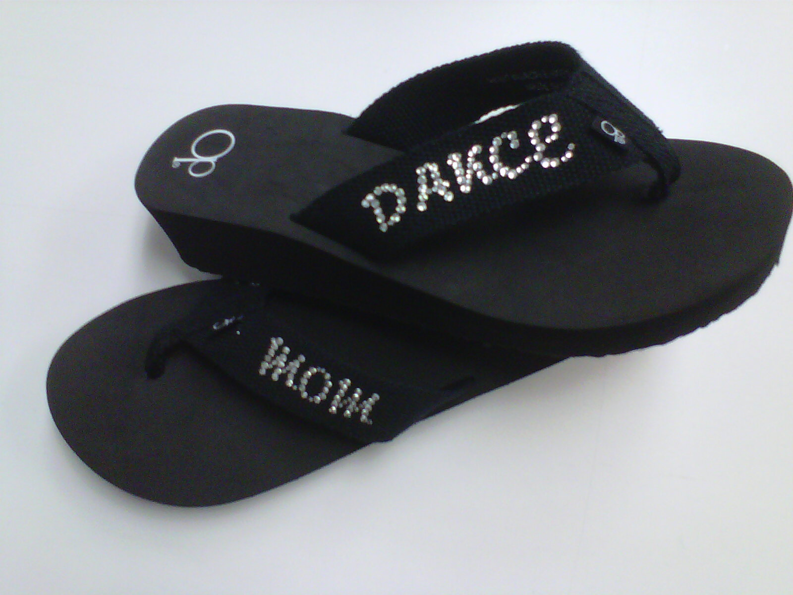 1ebdf799d Rhinestone Dance Mom Flip Flops · One Stop T-Shirts and More ...