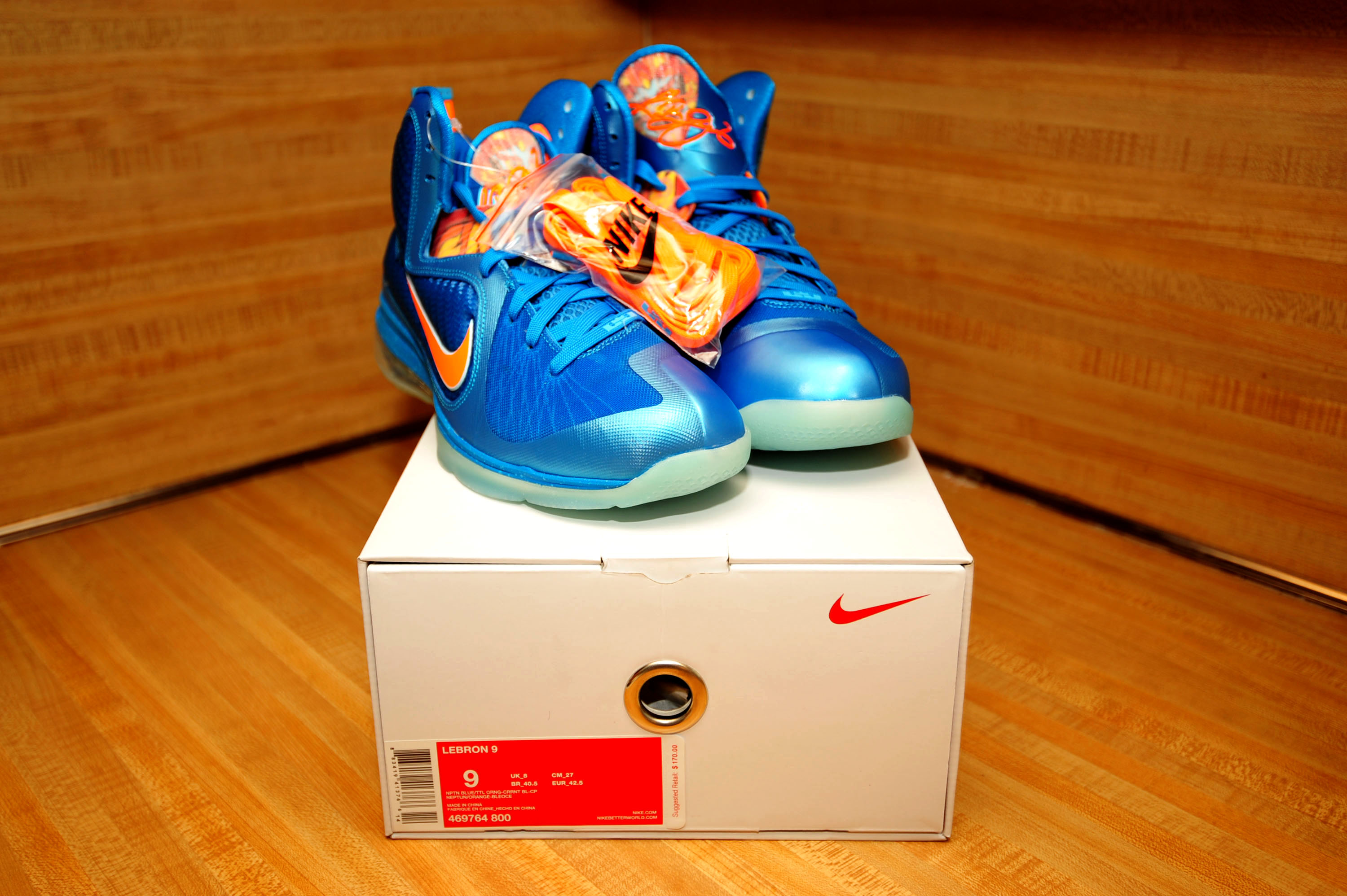 huge selection of abe95 db077 ... discount ds nike lebron 9 china neptune blue current blue total orange  on storenvy 8aa75 2f48c
