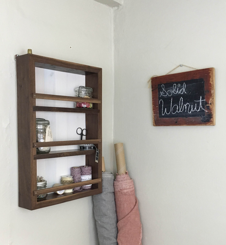 ON SALE! Limited Edition Solid Walnut Wall Cabinet, Rustic Shelf ...