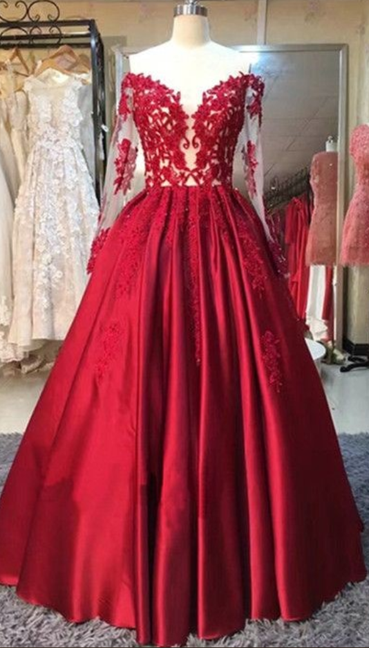 lace ball gown prom dresses,evening dresses,graduation party dresses ...