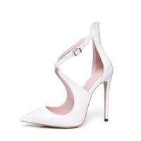 sexy womens buckle sandals peep toe stiletto high heels