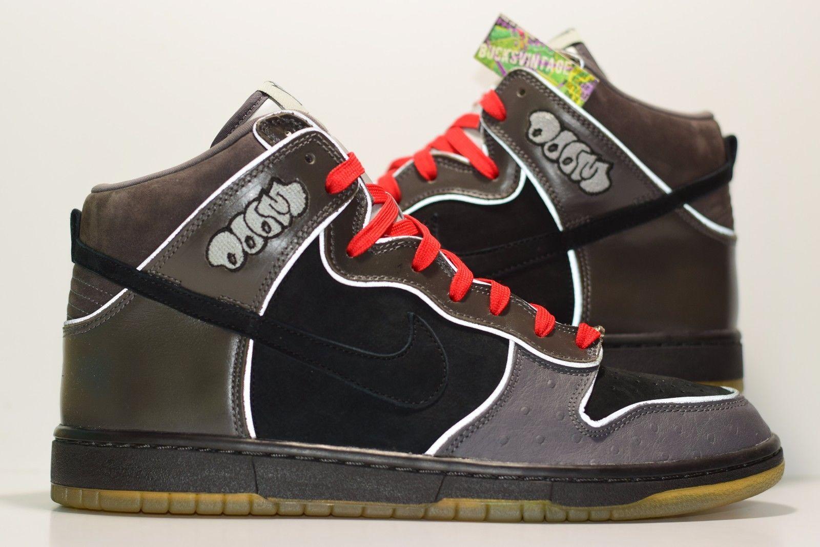 quality design 256a9 ab6d8 Size 11 | DS 2007 Nike Dunk High Pro SB MF Doom #313171-004  Black/Black/Midnight Fog from BucksVintage