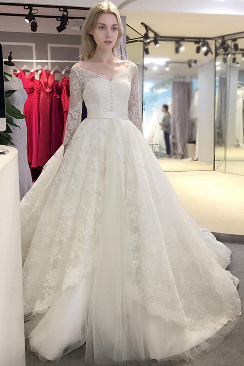 XP340 2017 spring Newest elegant wedding dress v -neck design with ...