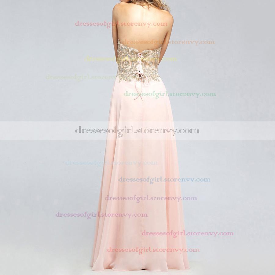 Graceful A-line Sweetheart Dark Navy Prom Dresses, Chiffon Long ...