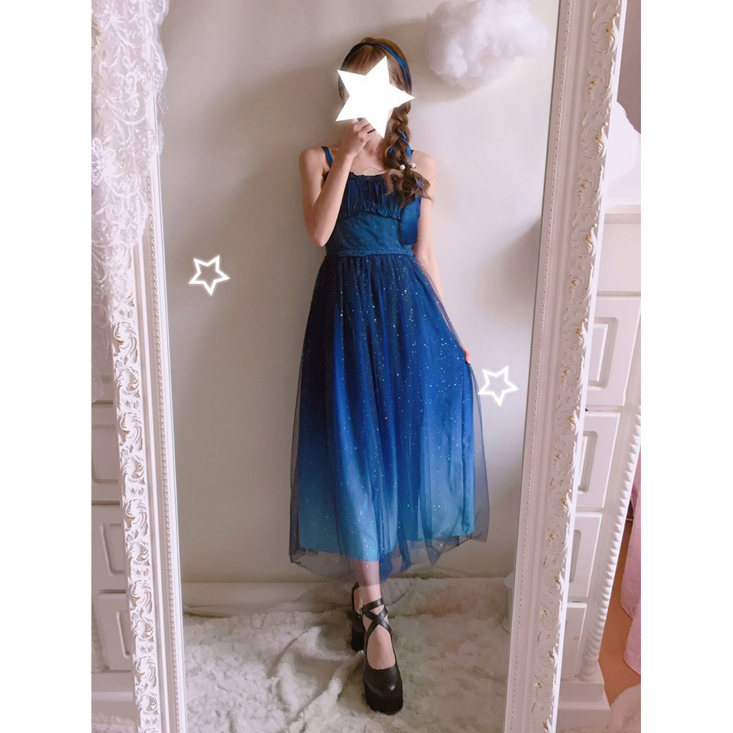 af2d51172f0 Gradient Galaxy Gauze Dress Fairy Starry Night Doll Gown DC455 - Thumbnail  1 ...