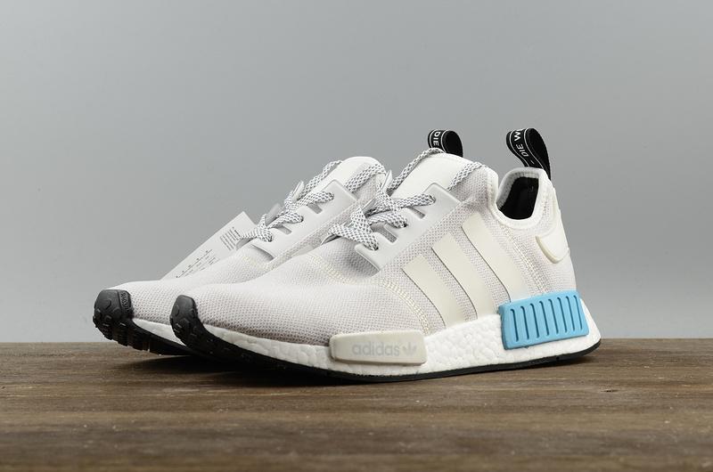 c26e36cb8a47bc Fashion Adidas NMD R1 white blue Boost pk running shoes on Storenvy