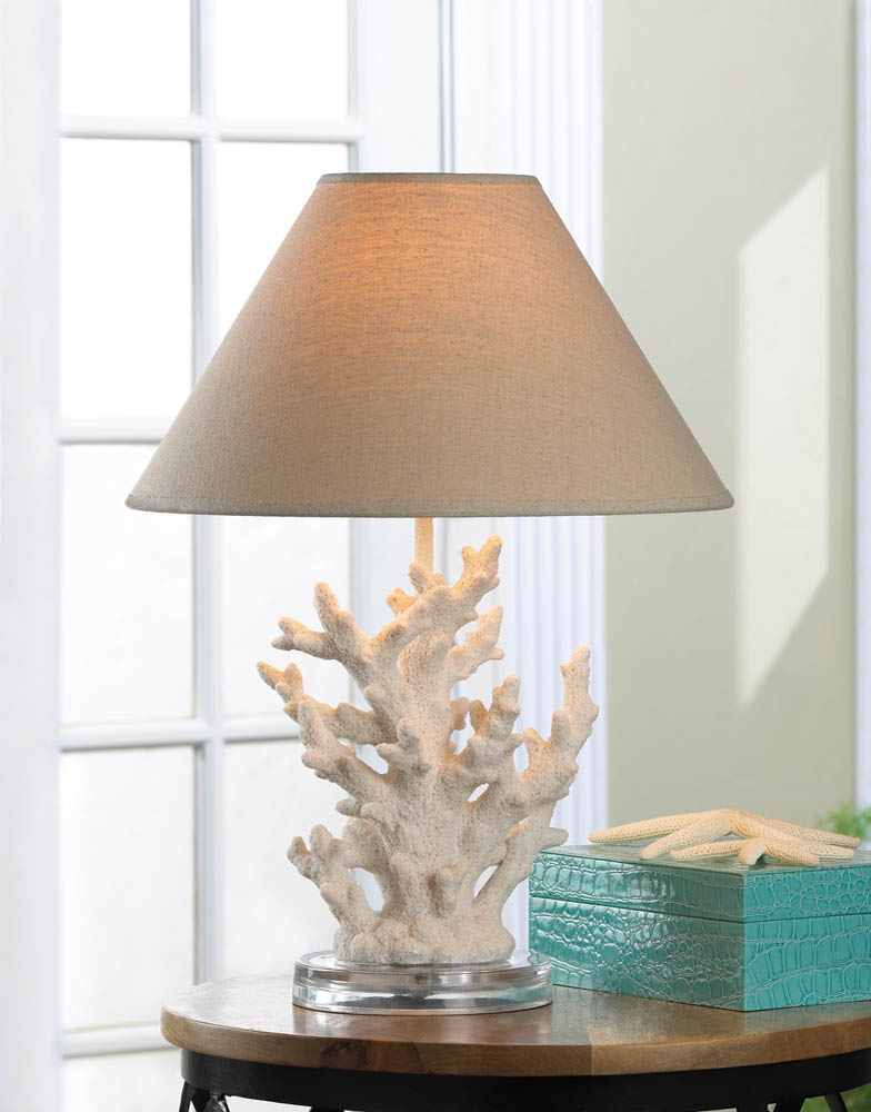 Attrayant White Coral Table Lamp 17 Original
