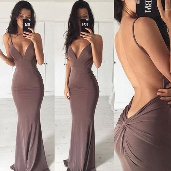 Backless dresses for women party sexy long
