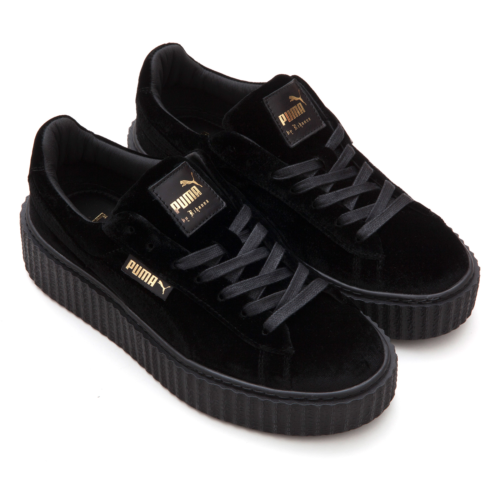 Puma by Rihanna Fenty Women s Creepers Velvet Black Shoes on Storenvy c529db424
