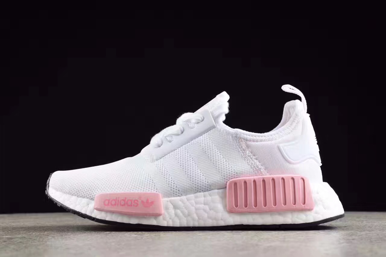 Adidas NMD R1 Boost pk White pink runner shoes BY1916 on Storenvy 4e485f3e9