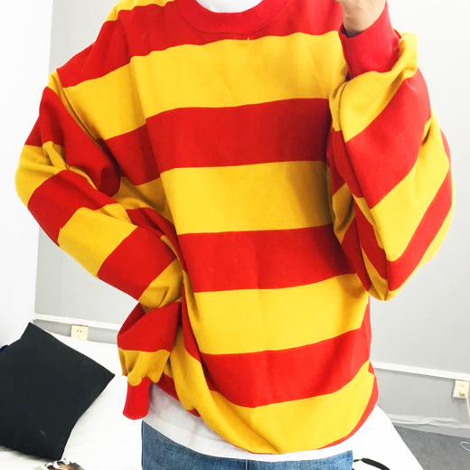 034763eaf23 RED   YELLOW STRIPED SWEATER · OCEAN KAWAII · Online Store Powered ...