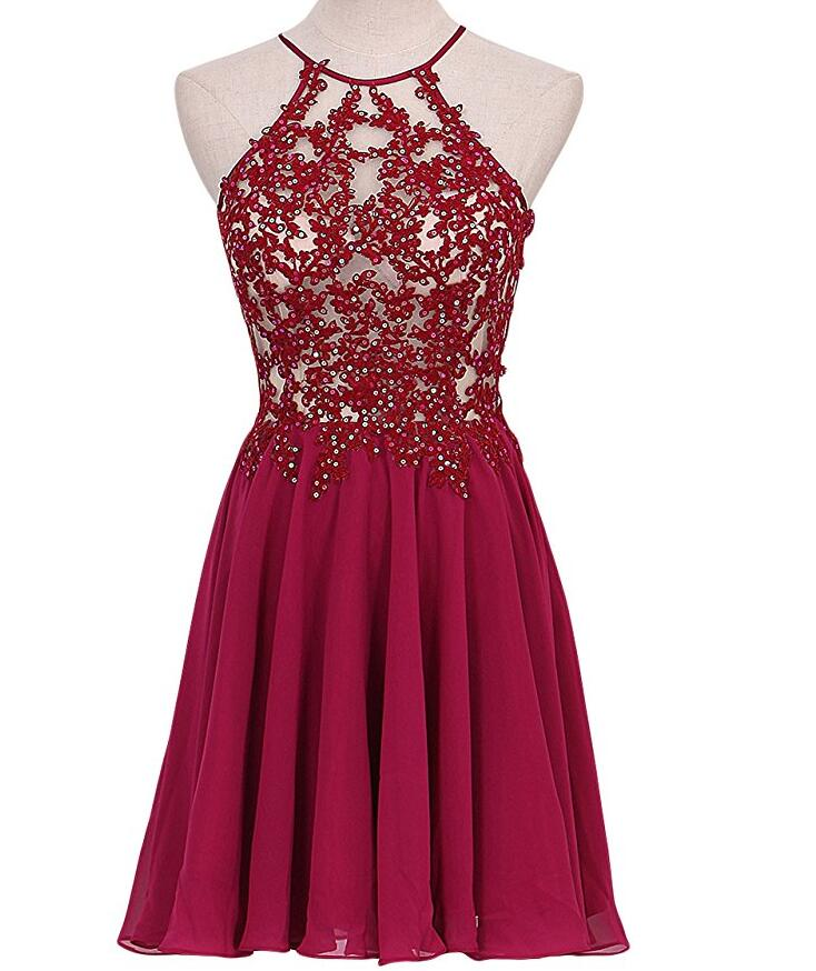 8461617a64c4 Burgundy Pretty Homecoming Dresses,Pretty Party Dress,Charming Homecoming  Dress,Graduation Dress,