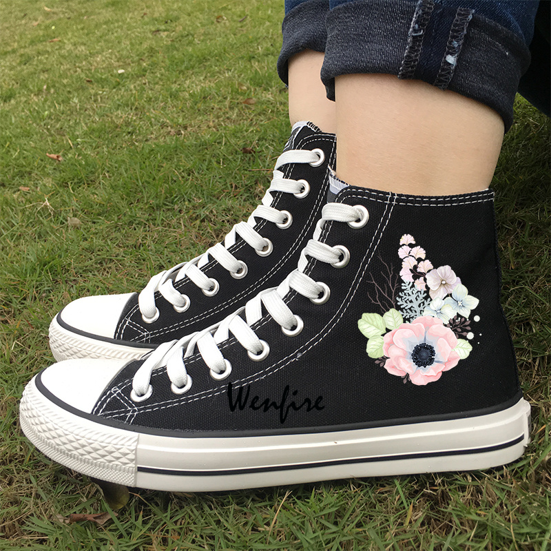 Wen Fire Puerto Rico Flag Hand Painted Shoes Men Women Low Top Canvas Sneakers