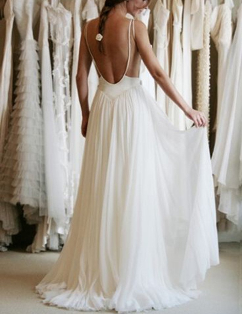 Wedding Dresses2017 Sexy Backless Dress Beautiful
