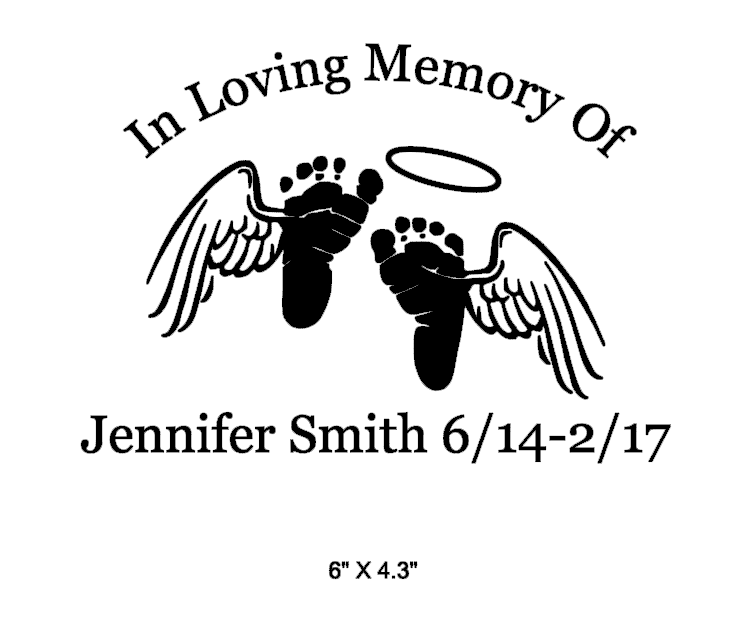 in memory baby footprints  angel wings decal white on storenvy shoes with wings logo company shoes with wings logo vector