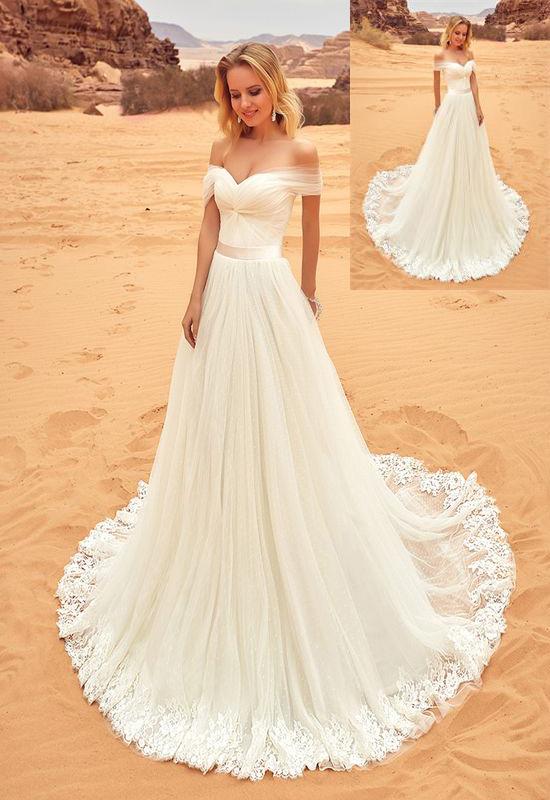 Beach Wedding Dresses,Long Lace Wedding Dresses,Handmade Wedding ...