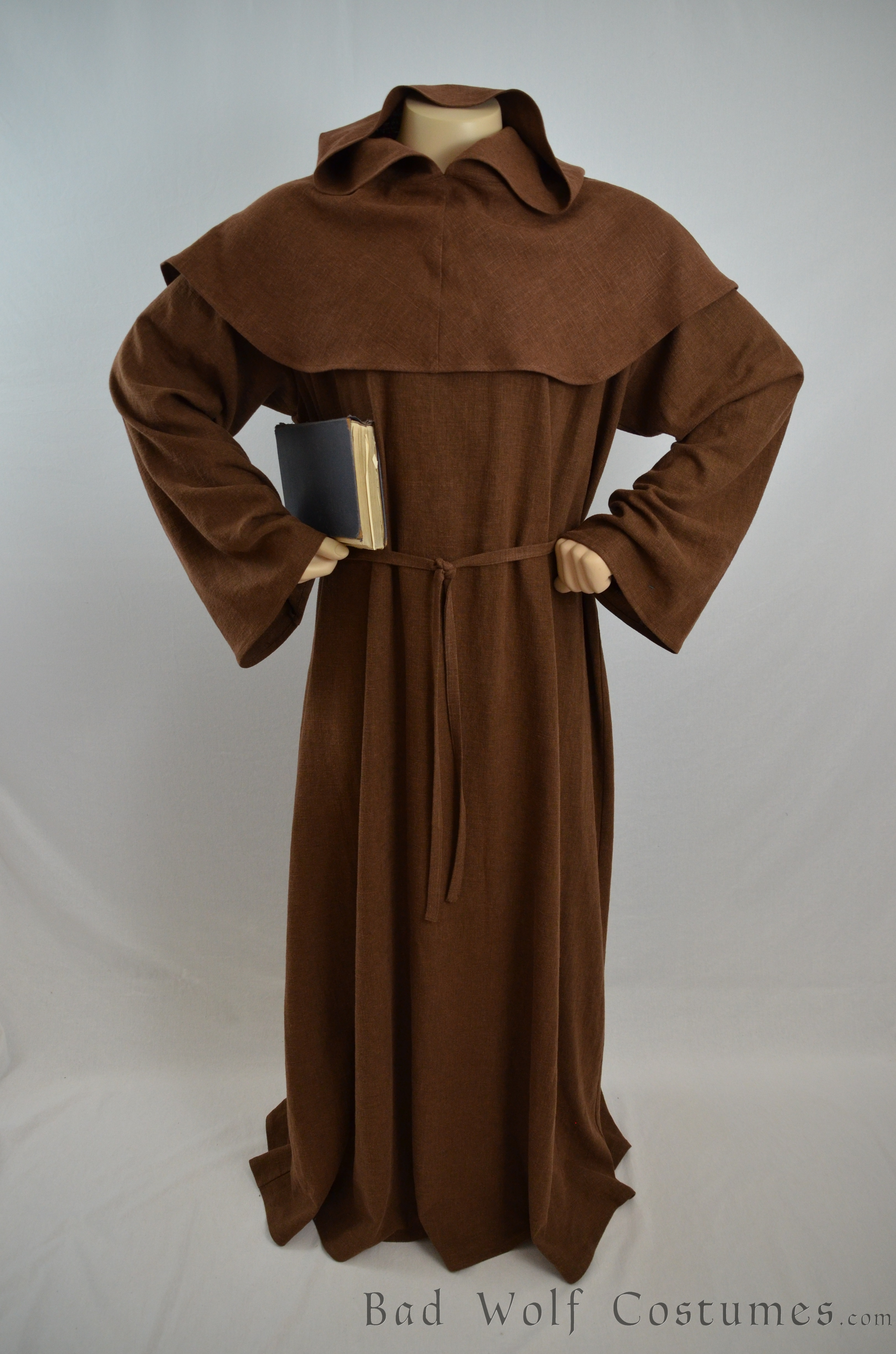 Medieval Monk Costume Renaissance Robe And Hood