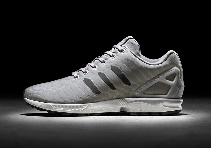 Fashion Adidas ZX Flux Xeno Reflective Running Silver snake shoes ... 47c01222a