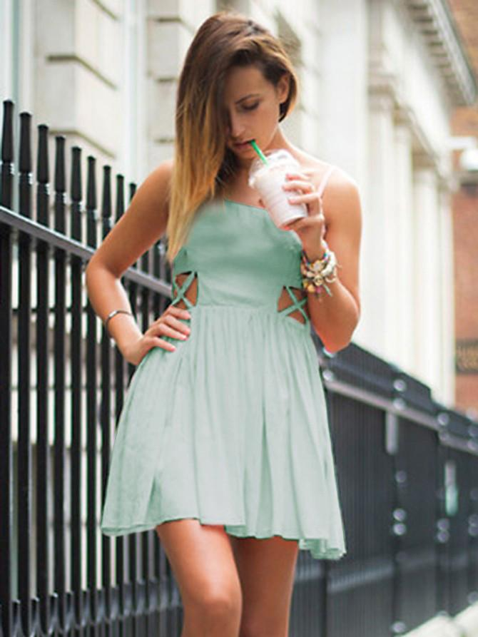 5a070150c2d Short Mini Chiffon Light Mint Green Homecoming Dresses Street Style Gowns  for Women