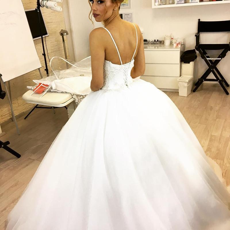 Pearl Embroidery Beaded Sweetheart Tulle Princess Wedding