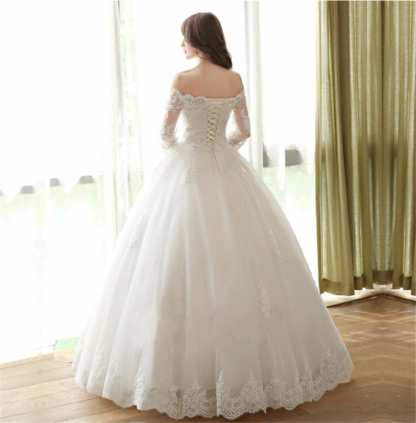 Elegant Simple Long Sleeve Wedding Dress: Off Shoulder Wedding Dresses,Long Sleeve Wedding Dresses