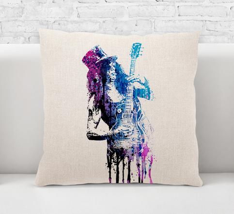 Throw Pillow Case Cushion Cover Slash Guns N Roses Rock